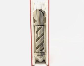 Barber Pole, Barbershop, Barber Pole Design, Folded Book Art, Book Sculpture, Barber Shop Decor, Barber Gift, Valentines Day, Fathers Day,