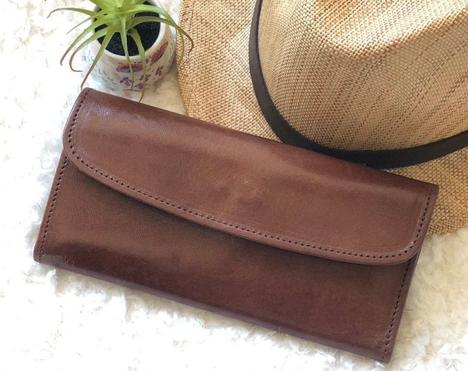 Handmade Bicolor woman leather wallet - Woman Leather wallet - Authentic Leather Wallet - leather gift -gift for her