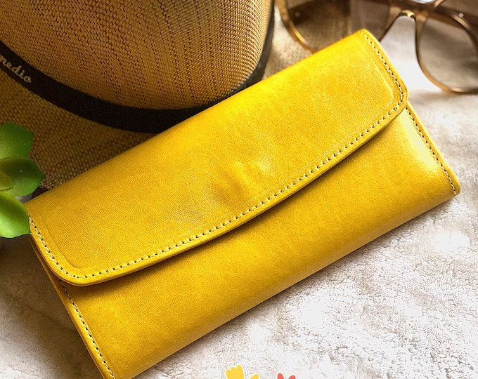 Bicolor woman leather wallet - Woman Leather wallet - Authentic Leather Wallet - gifts for her