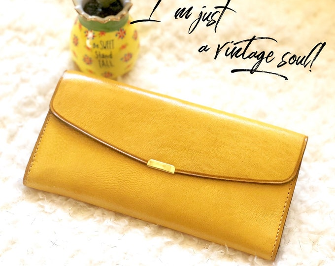 Handcrafted with authentic leather Wallets for women - Woman's Wallet- Leather Wallet Woman -Woman Wallet- yellow wallet