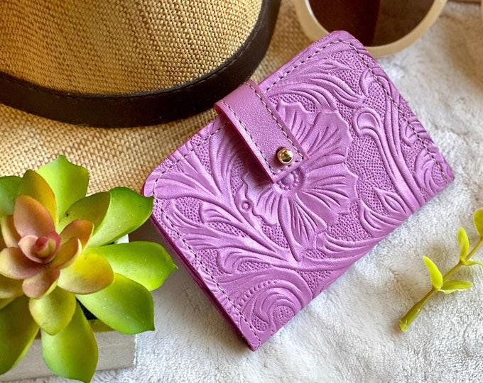 Small leather women's wallet - Mini wallet- Wallet purse- Leather travel wallet - Gift for woman - card holder - gift for her