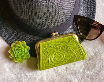 Woman coin purse - Leather change purse - Vintage Style Coin purse - gifts for her
