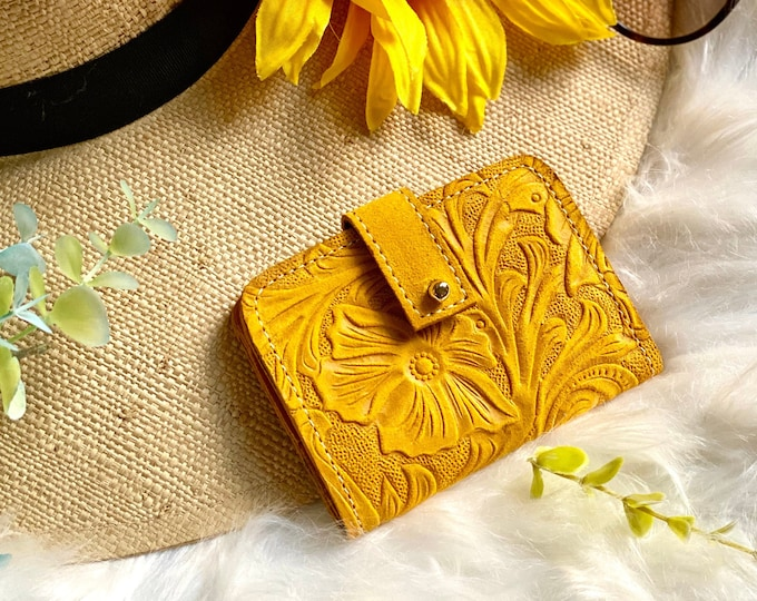 Handcrafted Authentic leather Small wallet - wallet women - card wallet -small wallets for women -card holder - leather wallet -gift for her
