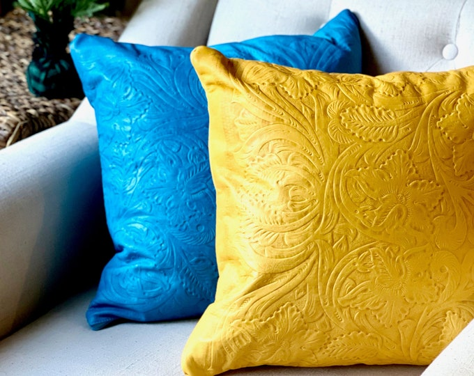 Handmade leather pillow covers• Decorative pillow covers •Housewarming Gift