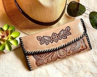 Leather wallet for women - Handmade woman wallet - Leather wallet women's - Western wallets - Bohemian wallet