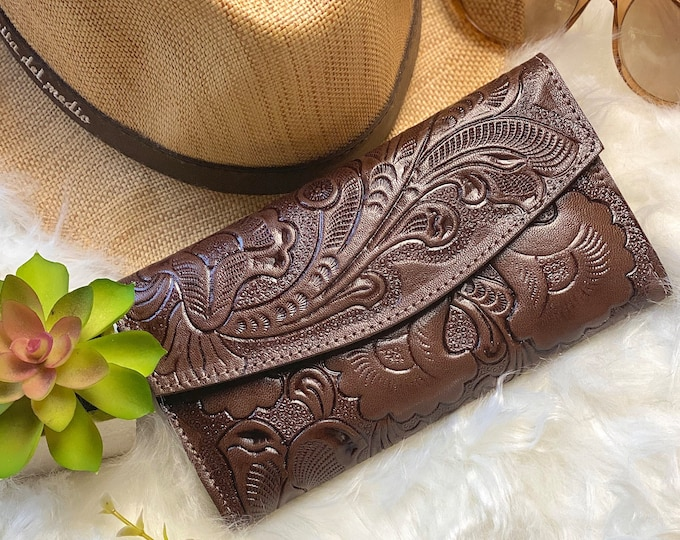 Handmade leather wallets for women - credit cards wallets - woman wallet- Women's purse - gifts for her - brown wallet - leather wallet