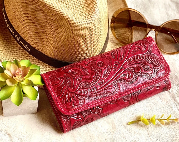 Bohemian leather wallet for women - wallet women - leather purse - credit card wallet - wallets for women - gift for her