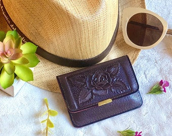 Handmade leather small wallet for Woman - Leather Women's Wallets- Wallet woman- Mini Wallet- Small travel Wallet- gift for her
