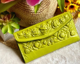 Vintage Style Handcrafted authentic leather wallets for women - women's wallet - wallets for women - handmade gifts for her - Gift for mom