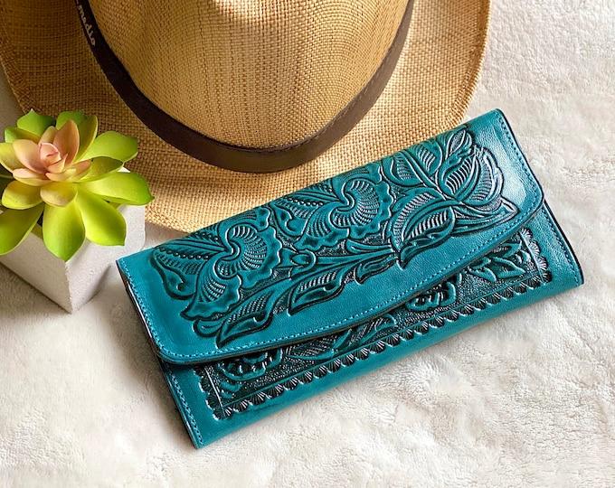 Western woman wallets / women's wallet /  Leather woman wallet