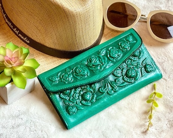 Handmade Women's leather wallet -Leather wallet for woman  -Gift for her -