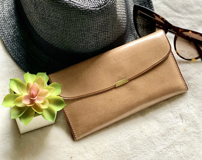 Slim leather wallet for woman - Leather woman wallet - Leather wallet gift