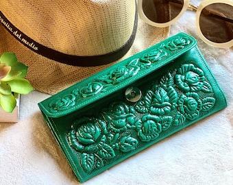 Leather card wallet- Handmade wallet leather -Wallet Woman- Gift for her- leather wallet women's- leather wallet - woman purse -