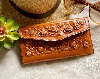 Leather wallets w roses