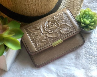 Light Brown handmade vintage style wallets for women - small wallet - leather wallet - woman gift - travel wallet