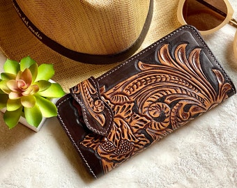 Tooled Leather Wallets