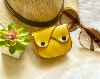 leather coin purse - woman small coin purse - leather change purse- gift for her