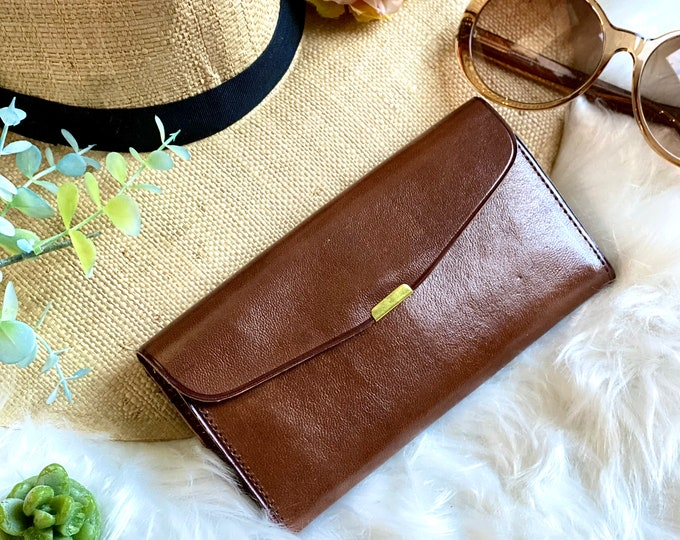 Handcrafted vintage style wallets for women - Leather woman wallet - Brown leather wallet - gifts for her - slim leather wallet