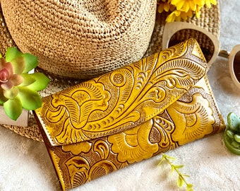 Handcrafted authentic leather wallets for women - Women's wallet - leather wallet -  gifts for her - woman purse