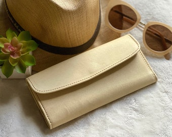 Leather credit card wallet - Women's wallet - Leather accessories  - Bicolor wallet