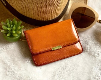 Small leather wallet - Travel wallet - Woman leather wallet-  gift for her