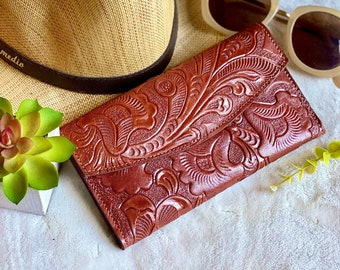Handmade leather woman wallet - woman leather wallet - Gift for wife - Gift for her - Wallet woman leather - Credit cards wallet