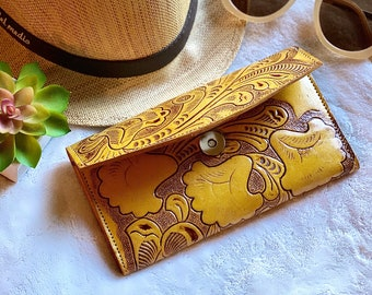 Women's wallet - Handmade wallet - Bohemian leather wallet - wallets for women - women purse - handmade gifts -gifts for her -leather wallet
