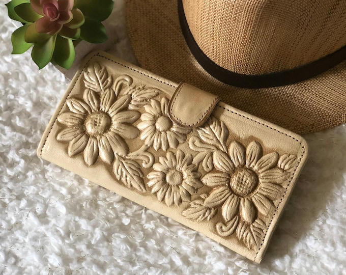 Sunflowers Leather Wallets for Woman-Gifts for her-leather wallets women-woman purse