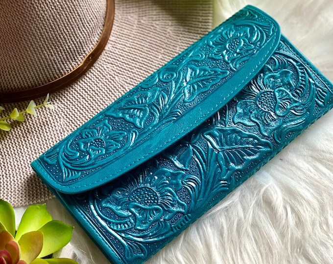 Lotus flowers leather wallets for women-woman purse -wallets for ladies- gifts for her