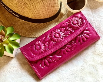 Sunflower gifts - Bohemian wallet - Gifts for her - wallets for woman - wallet women leather