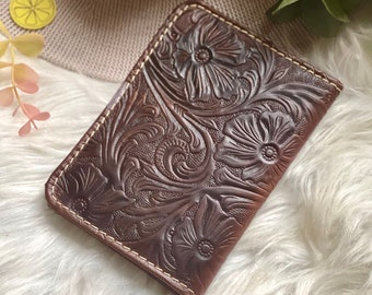 Tooled leather passport Cover • Passport Holder •Leather Gift