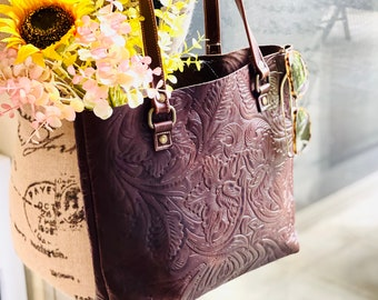 Authentic leather tote bags for women• Gifts for her