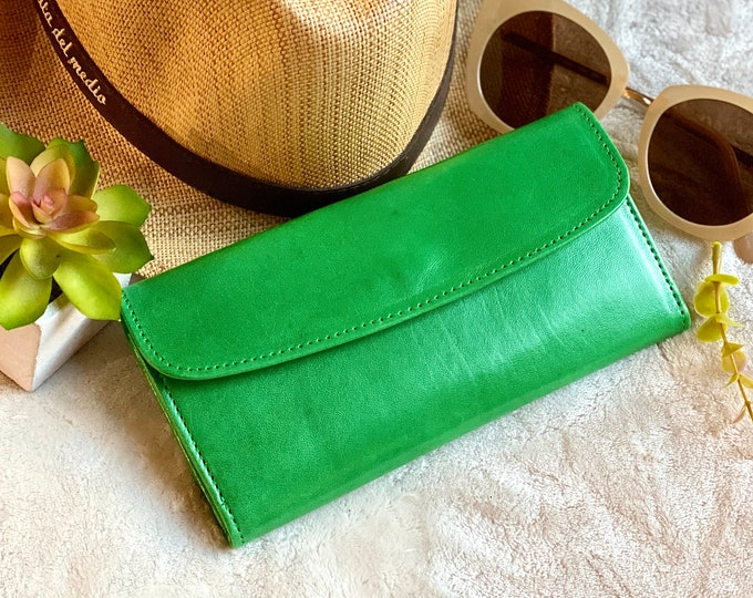 woman leather wallet * Woman Leather wallet * Authentic Leather Wallet - gifts for her
