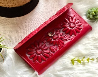 Handmade woman wallet - gift for her - leather wallet women - woman wallet - Gift for women - leather purse - woman leather wallet