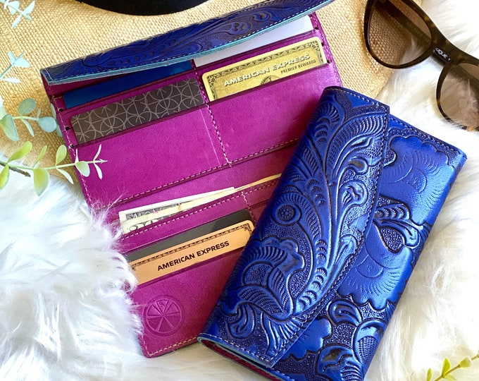 Handmade authentic leather wallets for women  -leather wallet women -woman wallet -leather wallet - gifts for her
