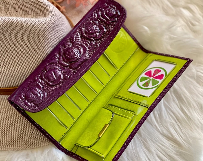 Wallet women leather • gifts for her •leather wallet women • Bicolor wallets