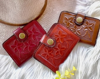 Handmade leather credit card holder • gifts for her • wallets