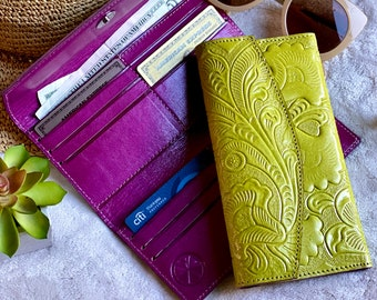 Handcrafted authentic leather women's wallets - wallet woman - women wallet - leather wallet - leather women's wallet - gift for her