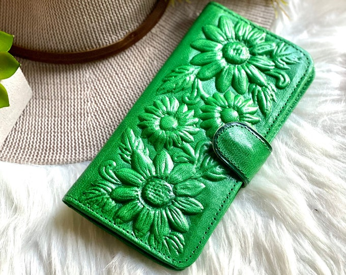 Handmade leather wallets- womens wallets- gifts for her