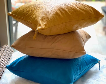 Leather pillow covers- Decorative pillow covers-Gifts for her