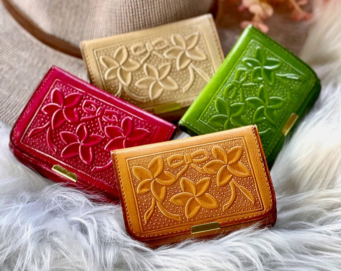 Small leather wallets for women •gifts for her •credit card holder