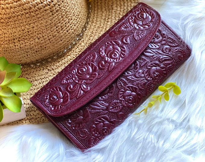 Handcrafted leather wallets-leather wallet for women-gifts for her- floral wallets -women wallets leather