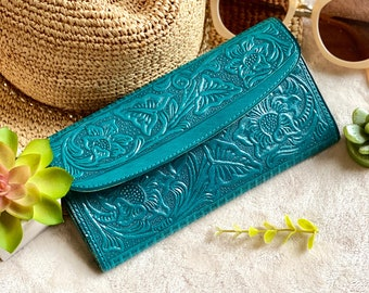 Handmade leather wallets for women - gifts for her - wallet women - leather wallet women