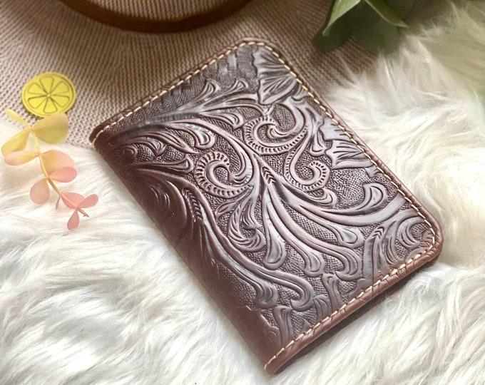 Handmade leather passport Cover - Passport Holder- Leather Gift - Passport Wallet
