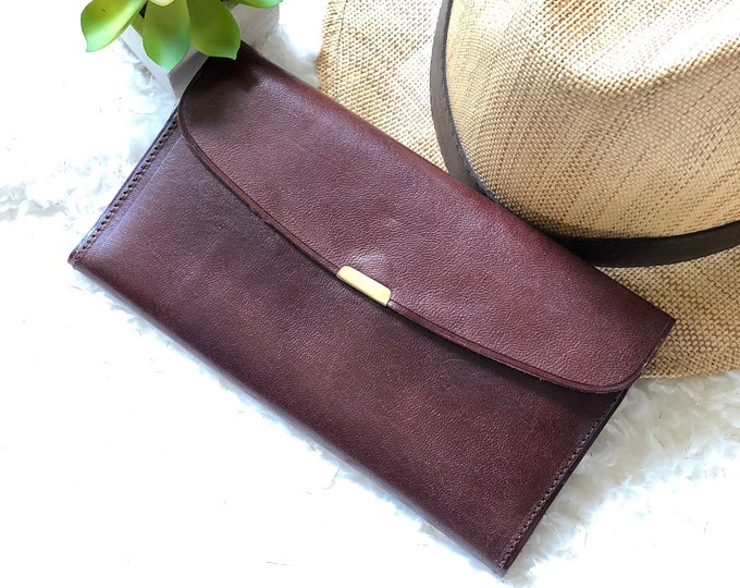 Classic leather woman wallet - Leather woman wallet - Brown leather wallet