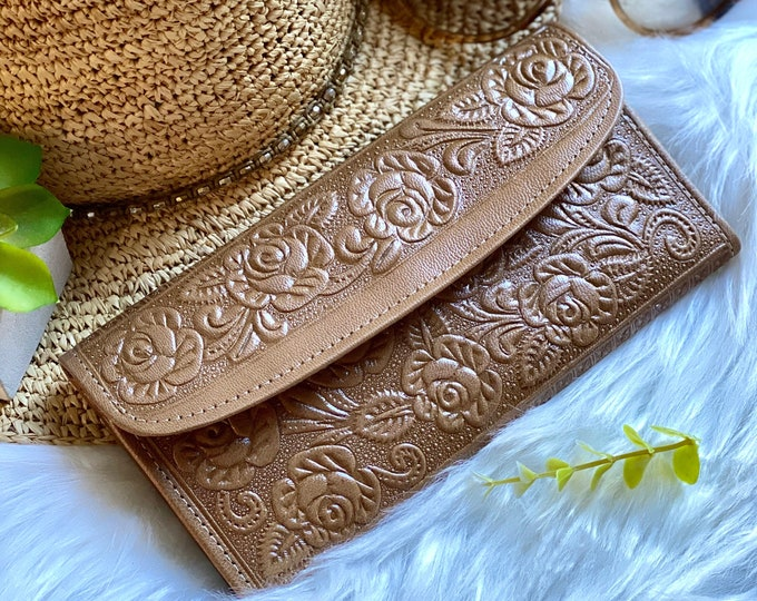 Handcrafted fun leather wallets-leather wallets for women-gifts for her- floral wallets -women wallets leather