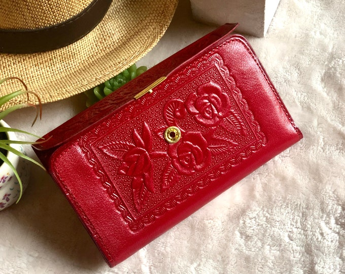 Leather Woman Wallet*Wallet Woman*Leather Wallet woman*Woman leather wallet*floral wallet*Birthday Gift*Gift for Woman*Handmade Wallet