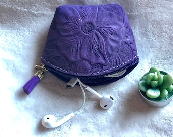 Small Makeup Bag - Small pouch bag - Handmade small bag - Woman small pouch - leather pouch - gift for her - woman coin purse