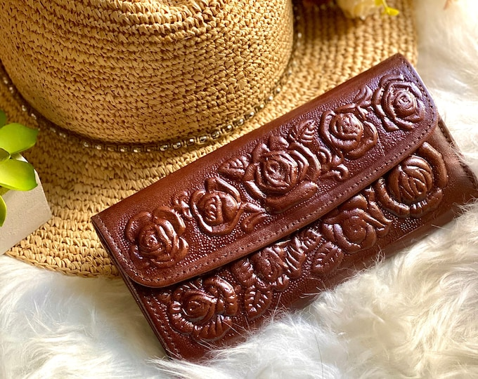 Handmade authentic leather woman wallet - wallets for women - women's brown leather wallet - gift for her - leather wallet