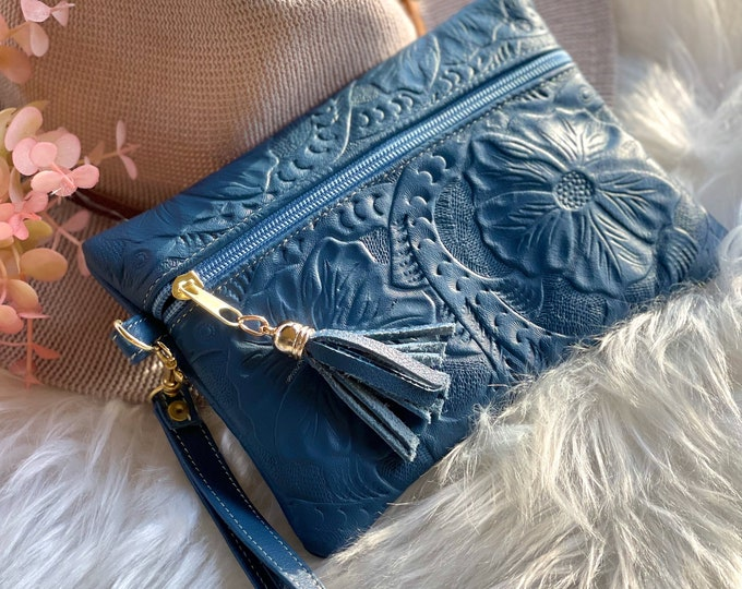 Leather bag for purse • small cosmetic bag • gifts for her